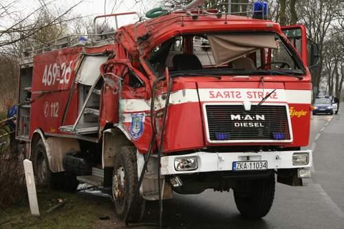Strażacy z OSP po drugiej stronie