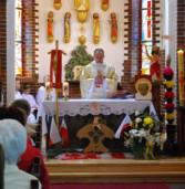 Msza dziękczynna za kanonizacje Jana Pawła II w Śniatowie