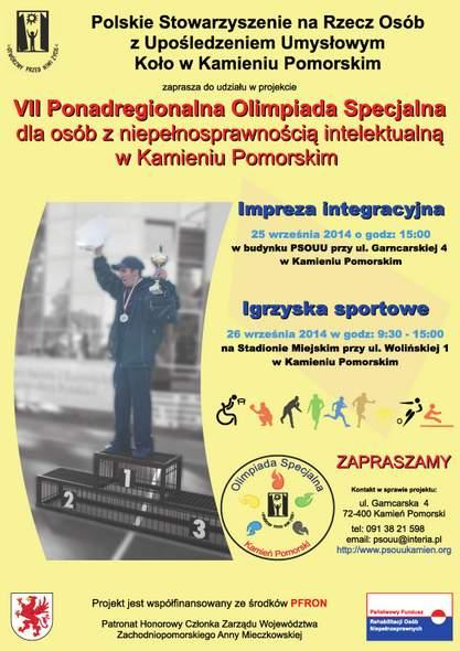 VII Ponadregionalna Olimpiada Specjalna dla Osób Niepełnosprawnych Intelektualnie