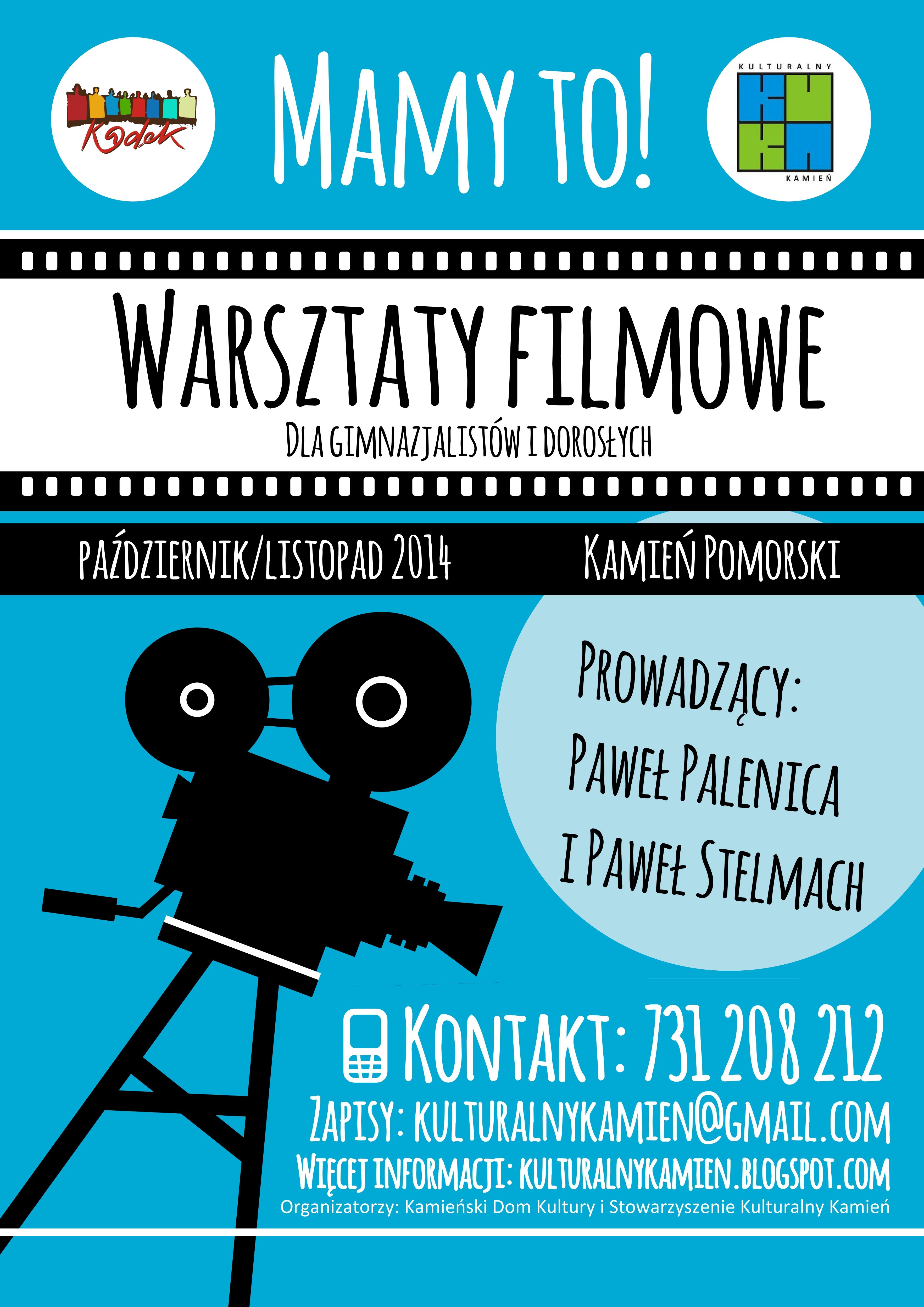 Warsztaty filmowe w Kamieniu Pomorskim