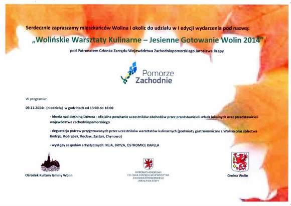 Wolińskie Warsztaty Kulinarne – Jesienne Gotowanie Wolin 2014