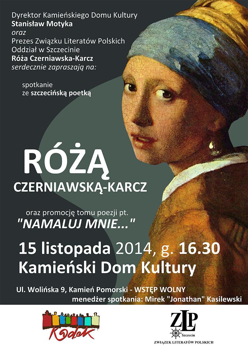 Spotkanie z poetką Różą Czerniawską-Karcz w Kamieniu Pomorskim