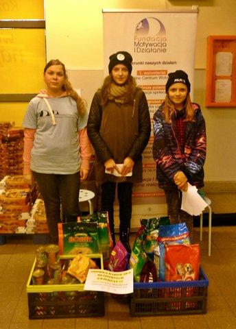 Przekazanie darów dla bezdomnych zwierząt!