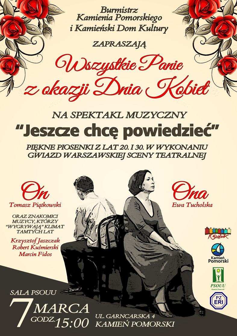 Spektakl muzyczny z okazji Dnia Kobiet w Kamieniu Pomorskim