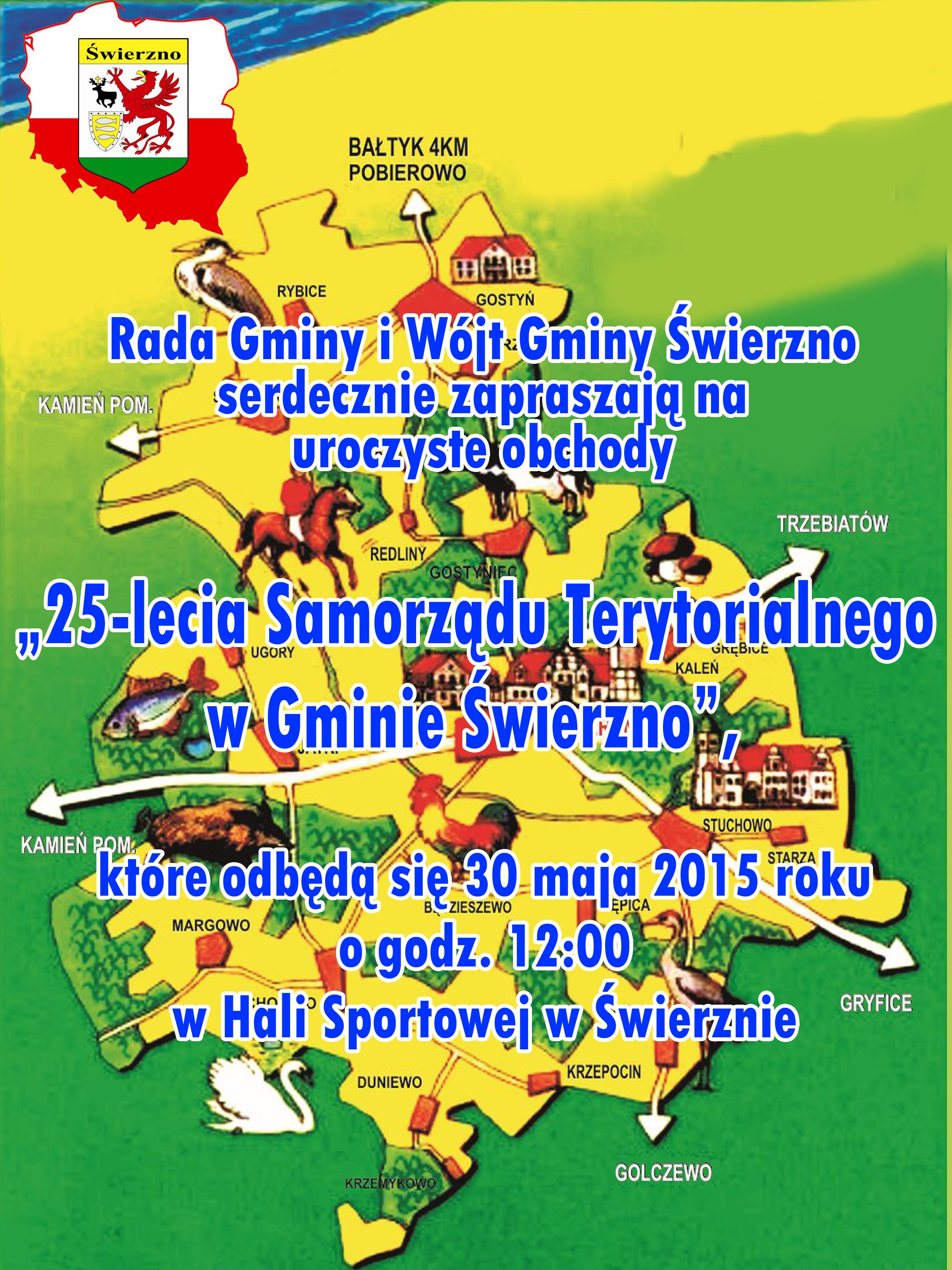 25 lecie Samorządu Terytorialnego w Gminie Świerzno