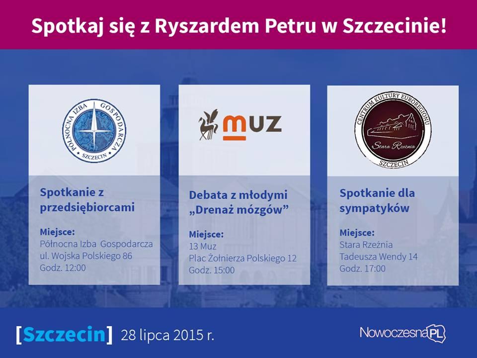 Ryszard Petru w Szczecinie