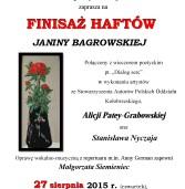 Igłą malowane – finisaż haftów Pani Janiny Bagrowskiej.