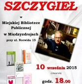 Spotkanie z Mariuszem Szczygłem   w bibliotece w Międzyzdrojach