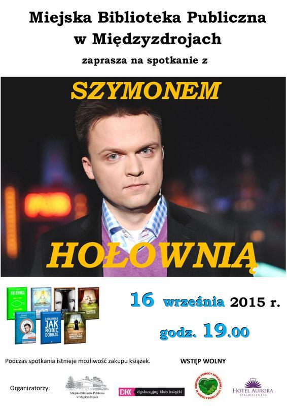 Spotkanie z Szymonem Hołownią w Miejskiej Bibliotece Publicznej w Międzyzdrojach.