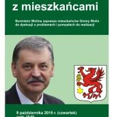 Spotkanie Burmistrza Wolina z mieszkańcami gminy Wolin.