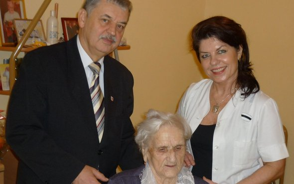 Urodzinowe życzenia dla najstarszej mieszkanki Gminy Wolin