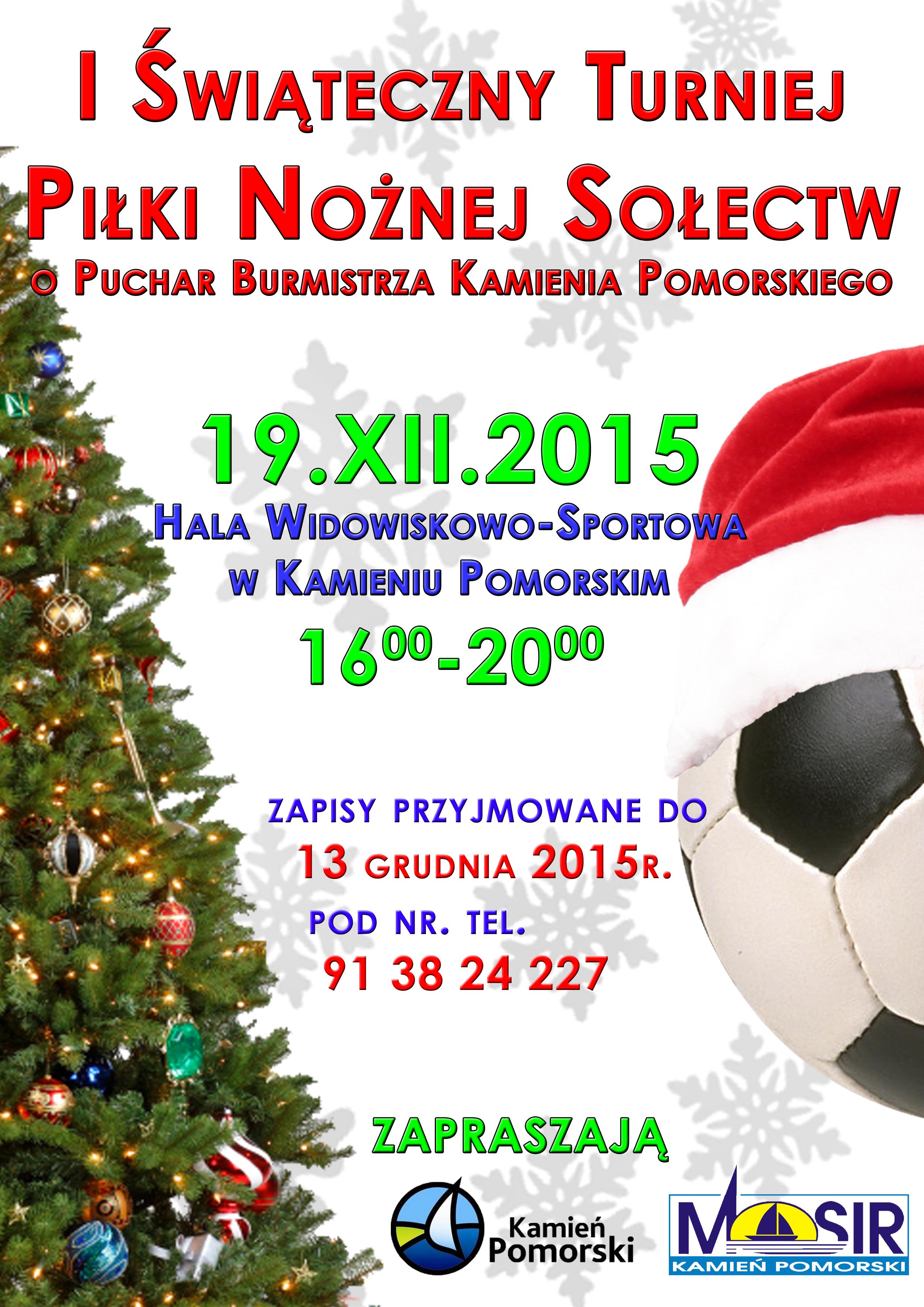 MOSiR zaprasza na świąteczny turniej piłkarski sołectw!