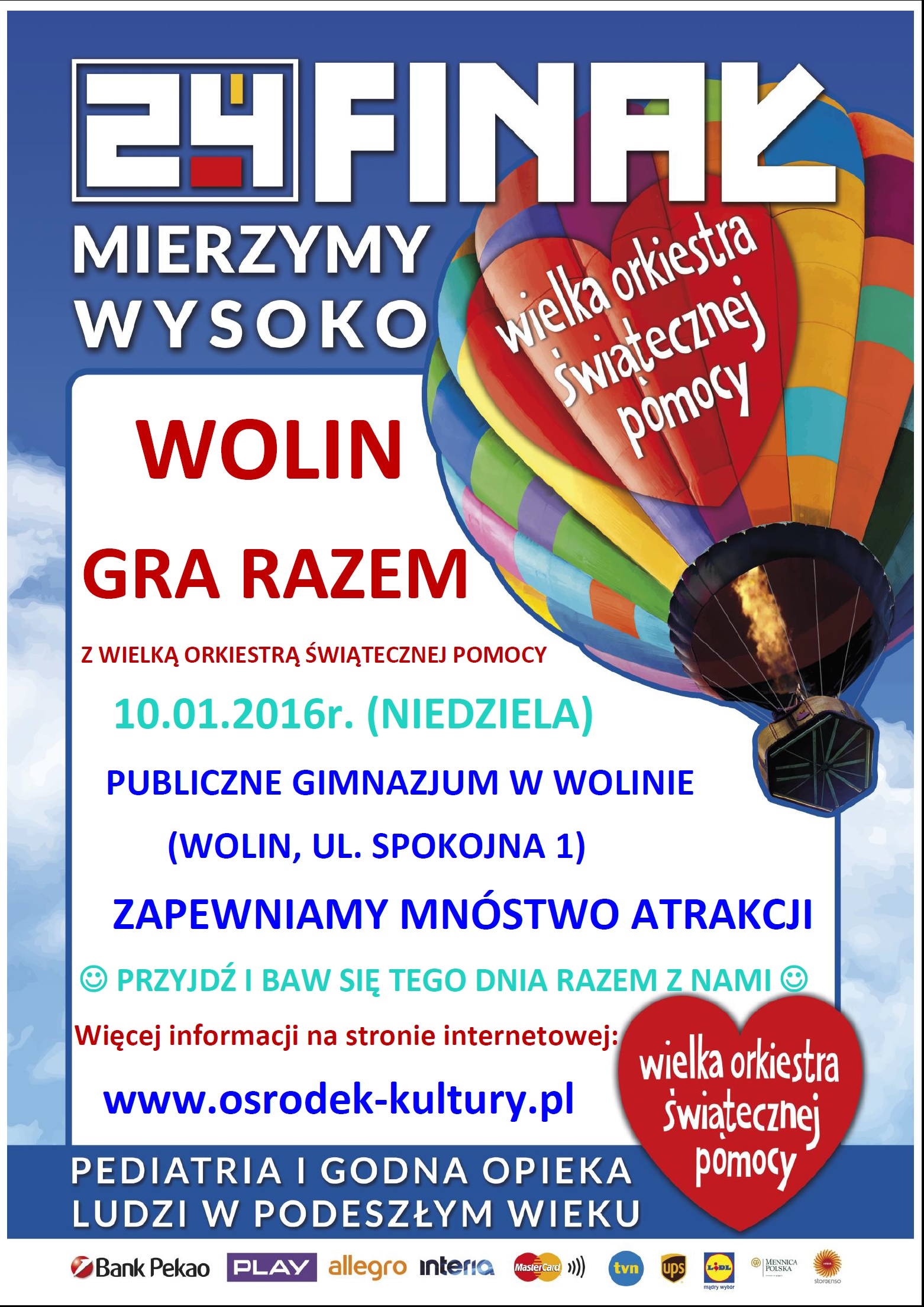 WOŚP Wolin – 10.01.2016r.