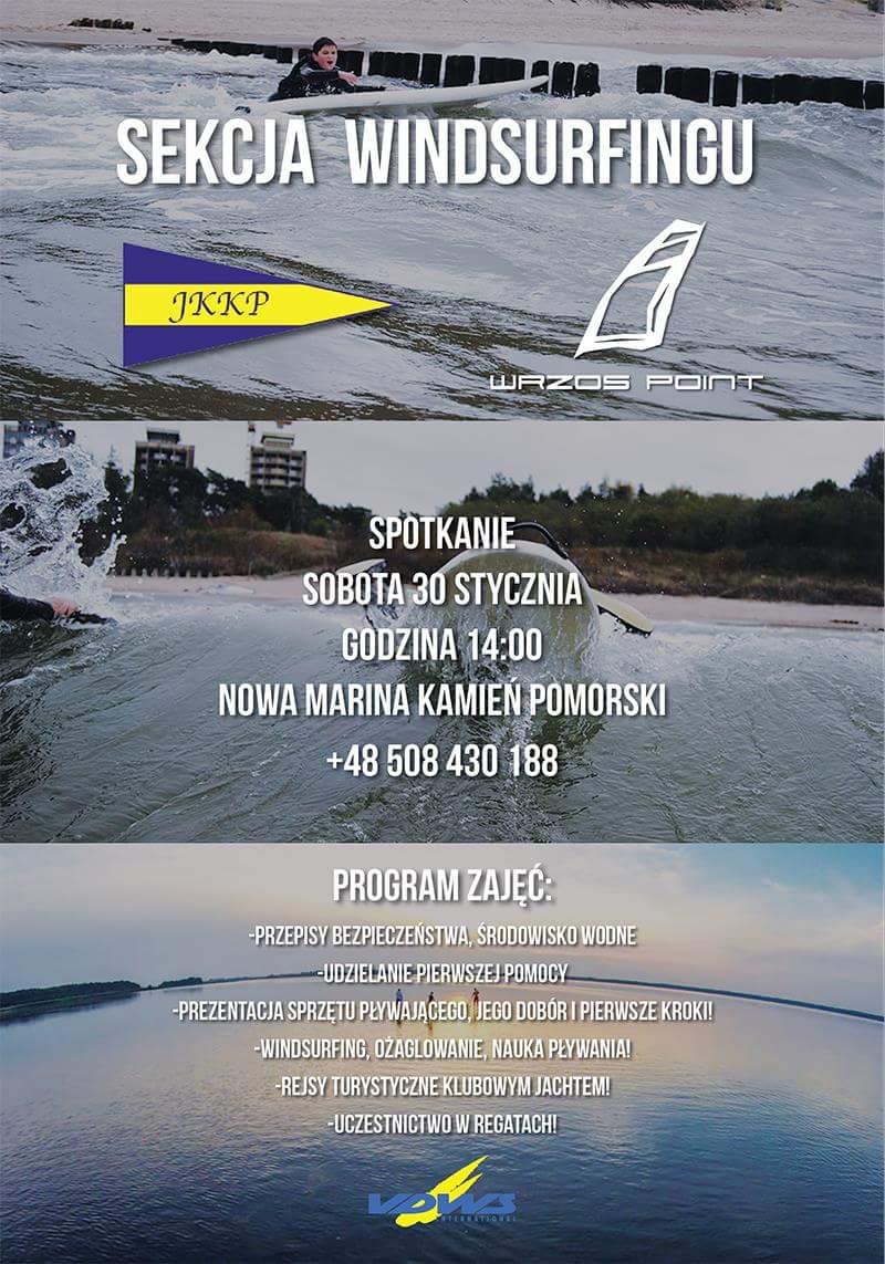 Jacht Klub Kamień Pomorski tworzy sekcję windsurfingu