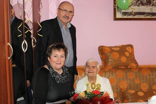 102 urodziny pani Bronisławy Przybylak