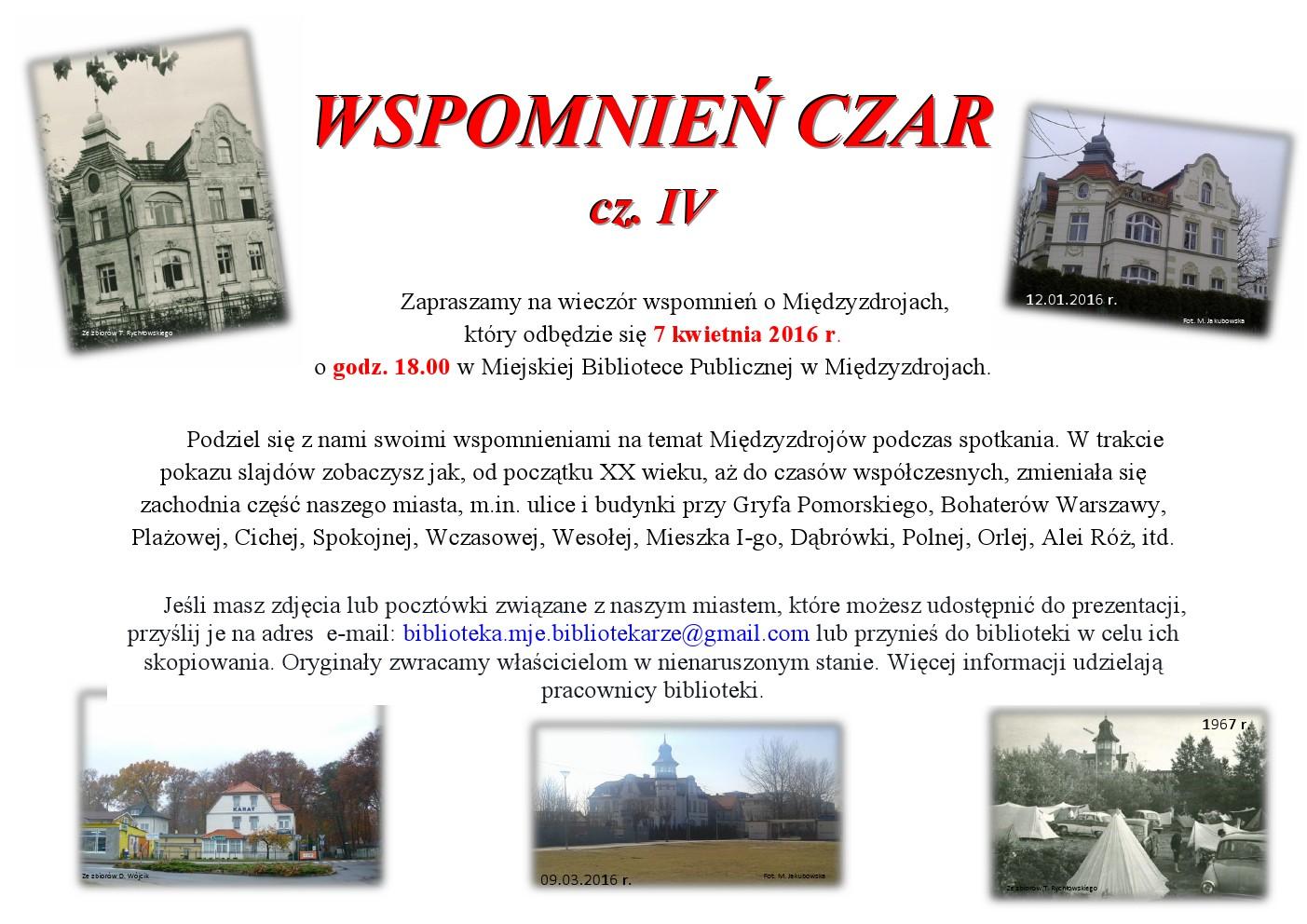 Wspomnień Czar cz. IV – zaproszenie