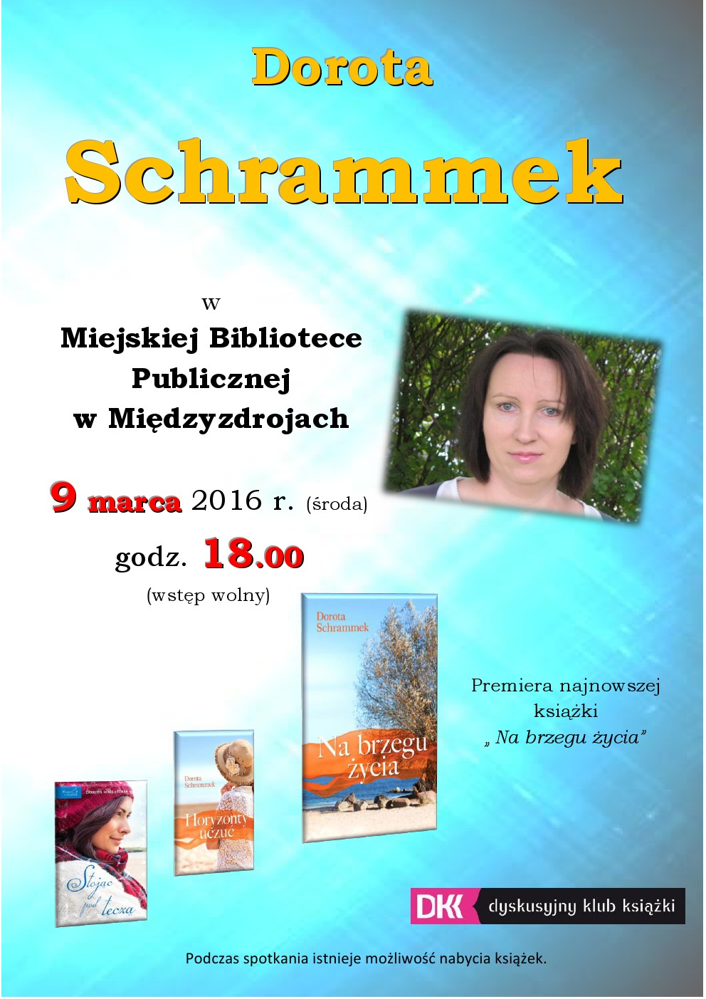 Dorota Schrammek w międzyzdrojskiej bibliotece