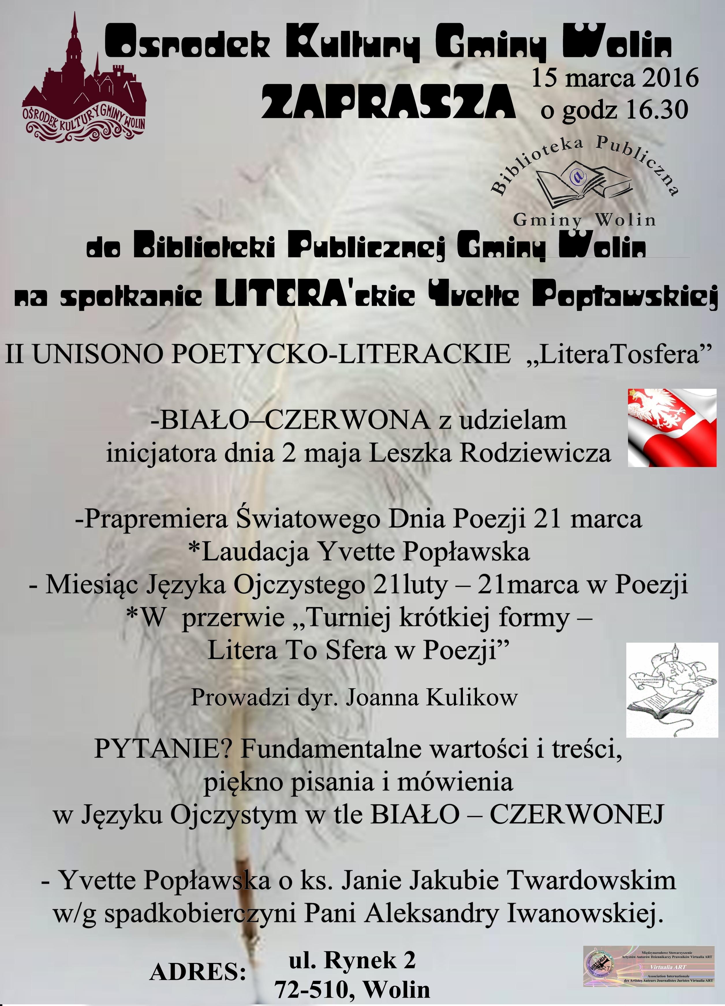 Spotkanie literackie z Yvette Popławską