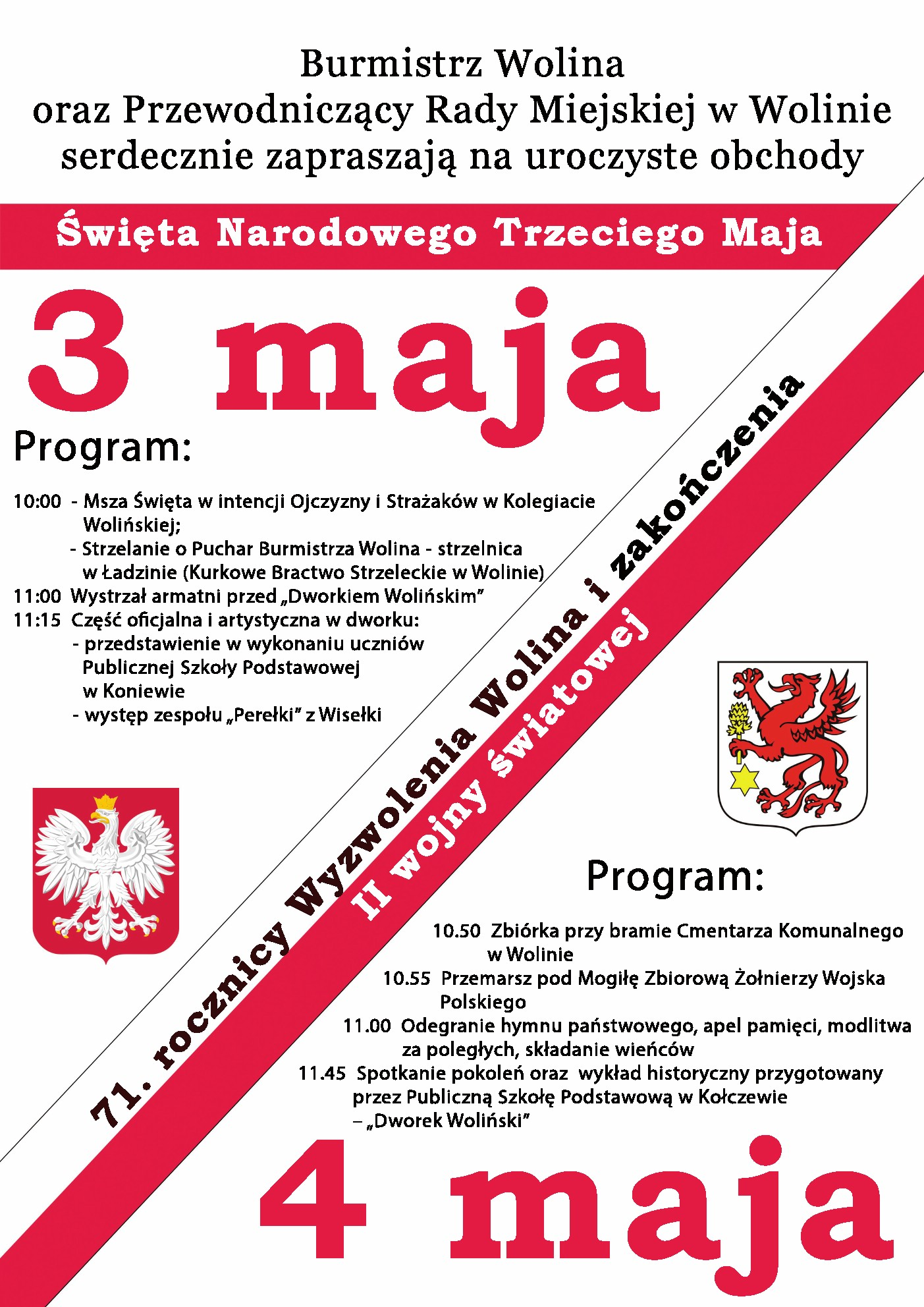 Obchody Święta Narodowego Trzeciego Maja  w Wolinie …