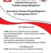 98 rocznica odzyskania przez Polskę niepodległości w Wolinie