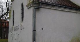 Wulgaryzmy wymalowane na kościele!
