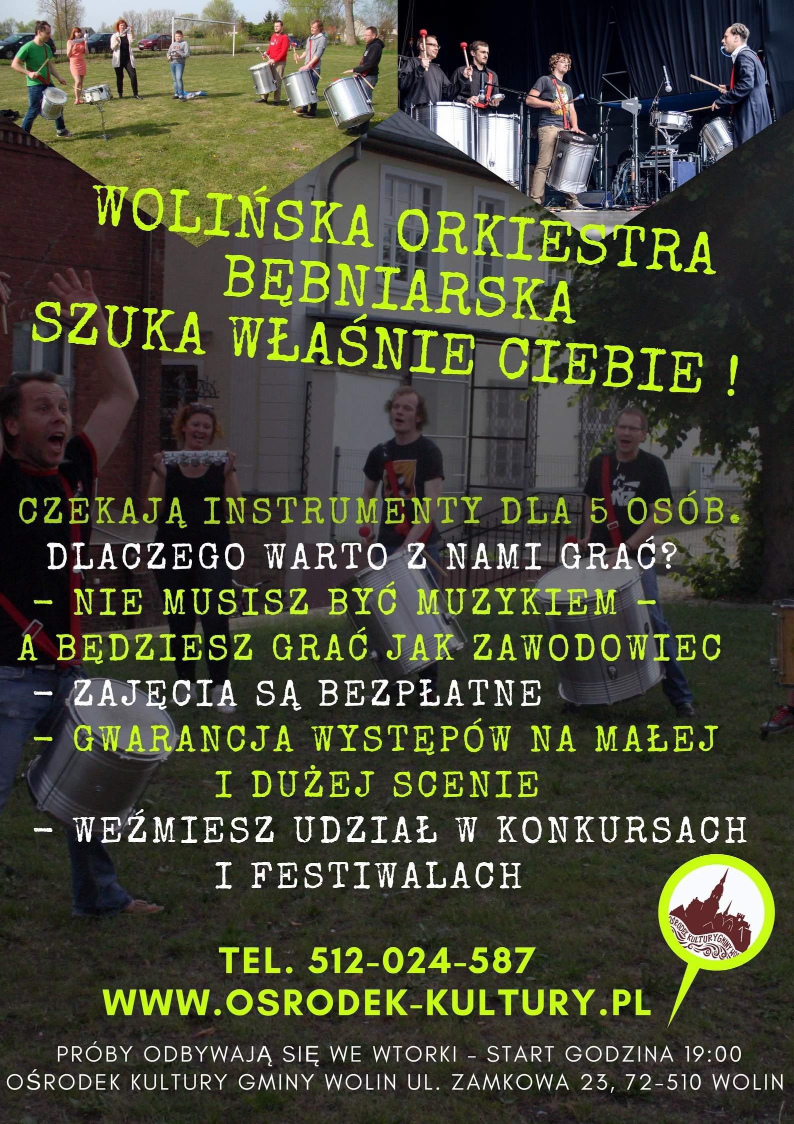 Wolińska Orkiestra Bębniarska szuka właśnie ciebie !