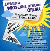 MOSiR zaprasza na wiosenne otwarcie Orlika