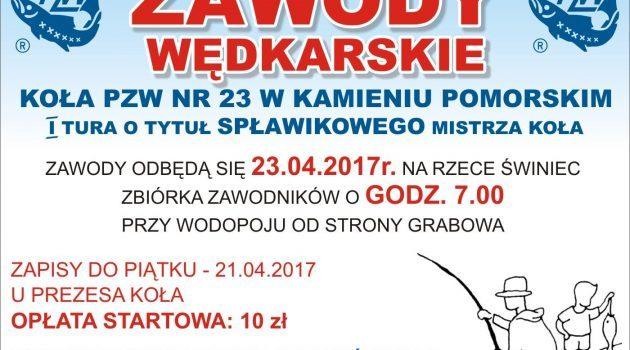 Zawody wędkarskie Koła PZW 23 w Kamieniu Pomorskim