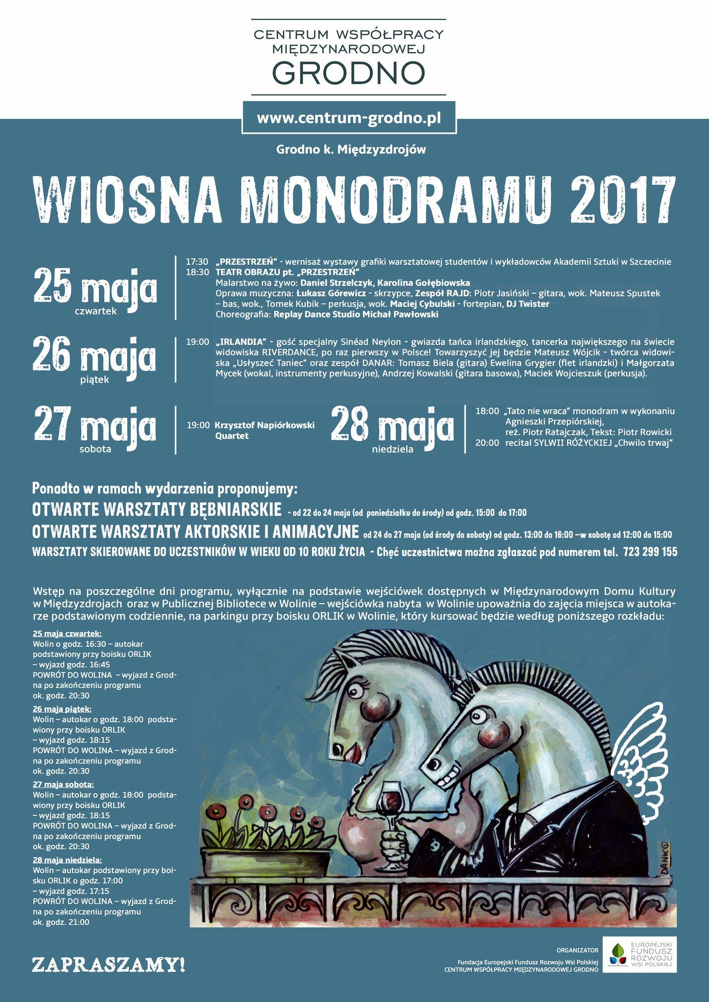 Kolejna edycja festiwalu Wiosna Monodramu rusza 25 maja!
