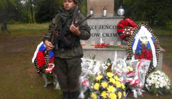 Podczas uroczystości na Cmentarzu Jeńców Wojennych, nad Sosnowicami niebo płakało…