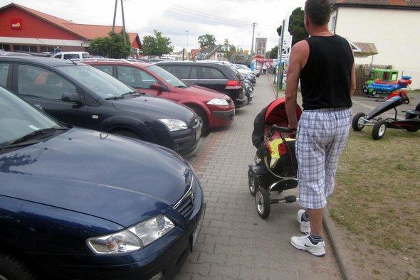 Nie parking, lecz to chodnik jest