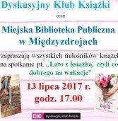 Zapowiedź spotkania Dyskusyjnego Klubu książki