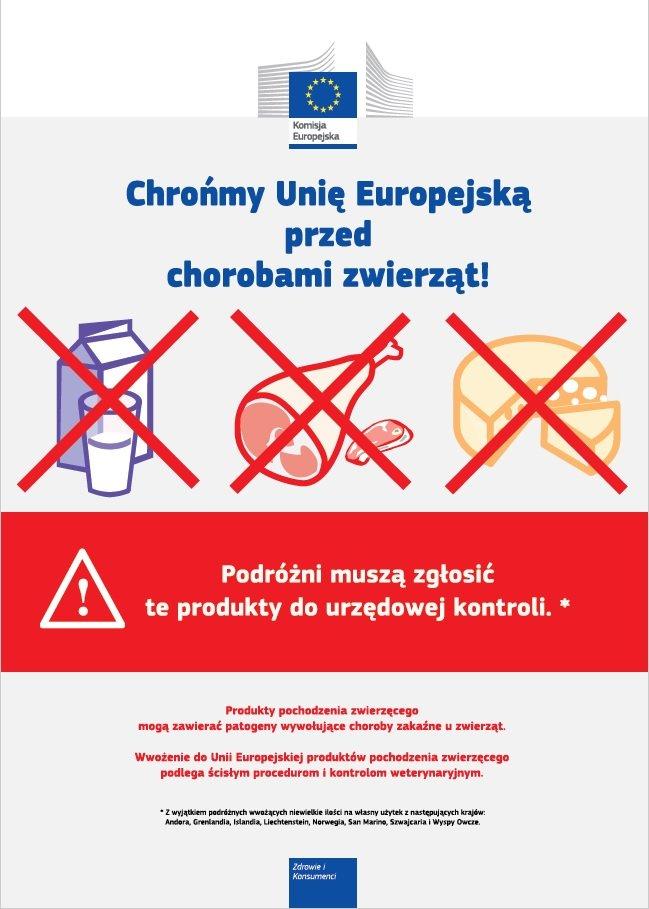 Choroby nie znają granic – zakaz indywidualnego przywozu produktów pochodzenia zwierzęcego z państw trzecich