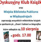 """""""Znani i lubiani w biografiach"""" – spotkanie w ramach Dyskusyjnego Klubu Książki"""