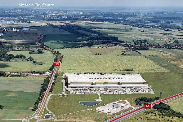 Ruszyło wielkie centrum logistyki E – commerce amerykańskiej firmy Amazon w Kołbaskowie