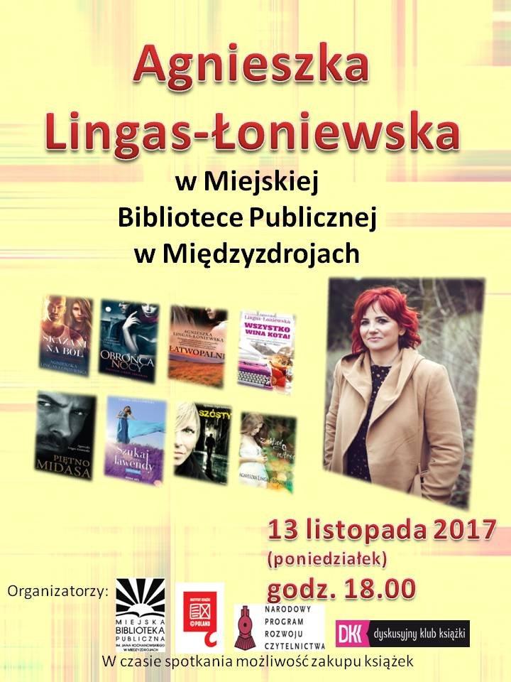Zapowiedź spotkania z Agnieszką Lingas-Łoniewską