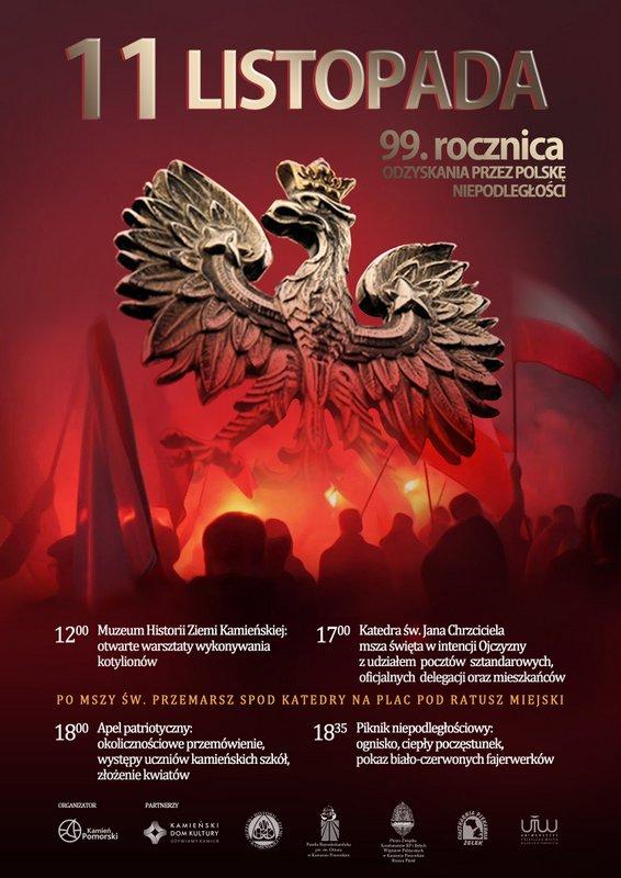 Zapraszamy na obchody 99. Rocznicy Odzyskania przez Polskę Niepodległości