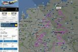 Największa choinka świata nakreślona przez samolot na niemieckim niebie!