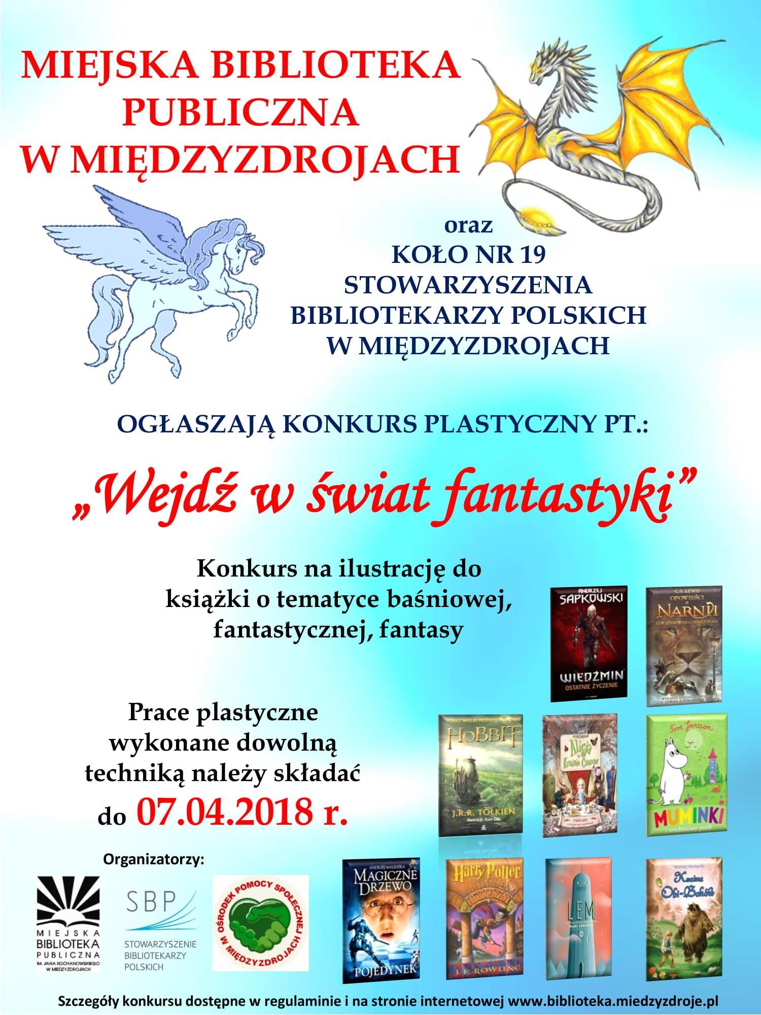 """Konkurs plastyczny pt.: """"Wejdź w świat fantastyki"""""""