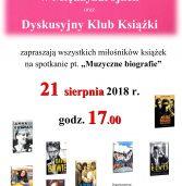 """""""Muzyczne biografie"""", czyli spotkanie Dyskusyjnego Klubu Książki"""