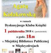 """""""Uwielbiam być mężczyzną"""", czyli spotkanie z Agatą Kołakowską"""