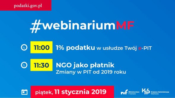 Webinarium o 1 proc. w usłudze Twój e-PIT i zmianach dla NGO jako płatników