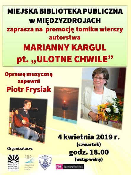 """""""Ulotne chwile"""" – wieczór autorski Marianny Kargul"""