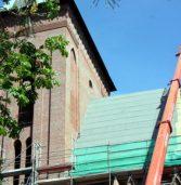 Prace na dachu kamieńskiej konkatedry nabierają tempa [zdjęcia,filmik]