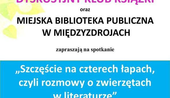 """""""Szczęście na czterech łapach"""" – spotkanie DKK w międzyzdrojskiej bibliotece"""