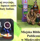 """""""W indiańskiej wiosce"""" – warsztaty literacko-plastyczne w bibliotece"""