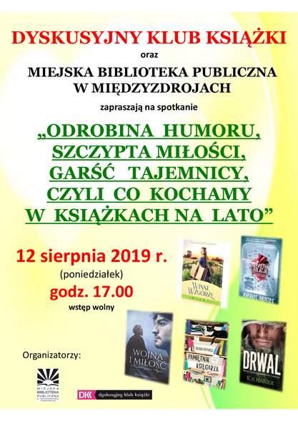 """""""… co kochamy w książkach na lato"""" czyli spotkanie Dyskusyjny Klub Książki w Międzyzdrojach"""