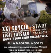 Miejski Ośrodek Sportu i Rekreacji w Kamieniu Pomorskim ogłasza zapisy do XXI edycji rozgrywek Kamieńskiej Amatorskiej Ligi Futsalu (KALF).