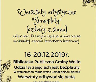 """Warsztaty artystyczne """"Sianoploty"""""""