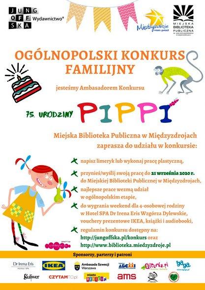"""Ogólnopolski Konkurs Rodzinny """"75. Urodziny, czyli Lato z Pippi"""""""